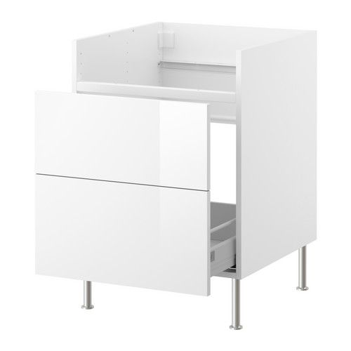 Ikea Fyndig Spüle Erfahrung ~ IKEA  FAKTUM, Base cab w 1 drawer for DOMSJÖ sink, Abstrakt white