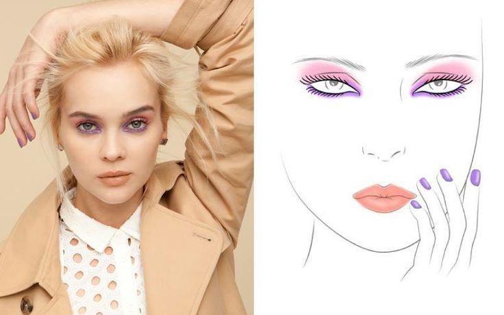 Der Look zum Valentinstag von butterLONDON Wink Cream Eye Shadow, Wink Colour Mascara, Lippy und Lack sind bei uns im Shop erhältlich :)