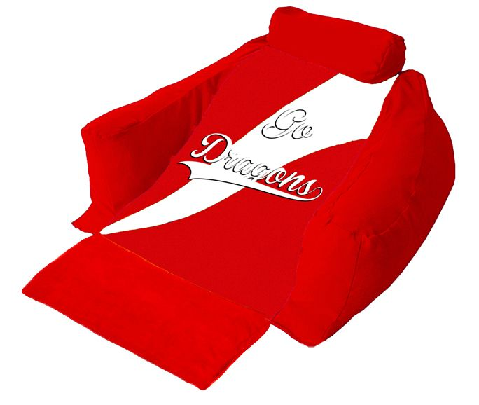 The ultimate 'must have' if you are a Dragons fan your very own personalised wedg-eze support lounger