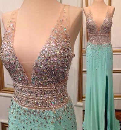 Sparkly prom dress, off shoulder prom dress, v-neck prom dress, gorgeous long prom dress, affordable prom dress, elegant prom dress,BD1607050