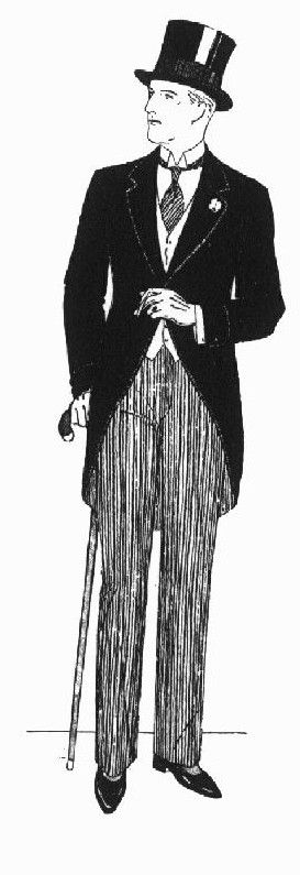 1920's morning suit - this has a fairly regular appearance in the principle male dressing rooms. Most recently in Ruddigore and a version in Queen of Spades (Autumn 2011)