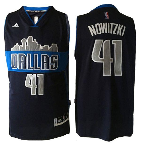 7904976423da ... Dirk Nowitzki 41 Dallas Mavericks City View Black Basketball Jersey. The  name ...