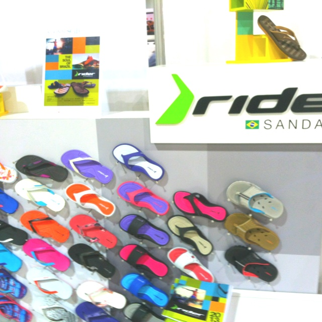 Rider Sandals' booth at FN Platform in Las Vegas.