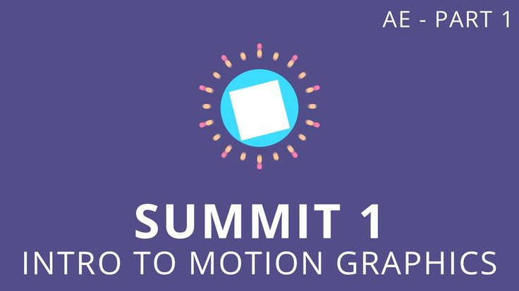 Summit 1.1 - Intro to Motion Graphics Today we'll be using Adobe After Effects to create a short animation. You'll learn some useful keyboard shortcuts, how ...