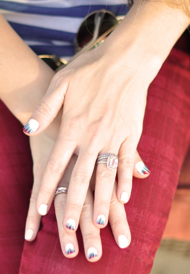 tie-dye mani: Tiedyenails, Beautiful Nails, Red White Blue, Manicures, Tie Dye Nails, Art Nails, Blue Nails