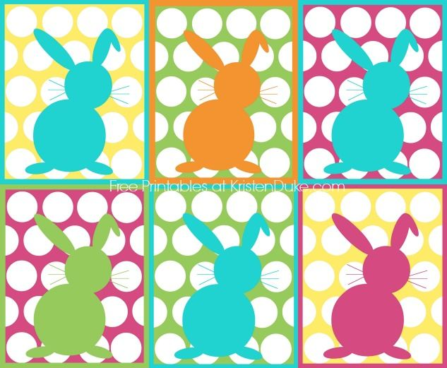 Free Bunny Printables at KristenDuke.com