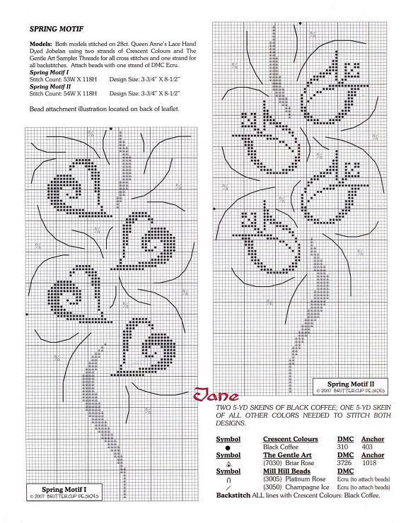 swirly spring designs--hearts and flowers Gallery.ru / Фото #82 - монохром+жаккард - irisha-ira
