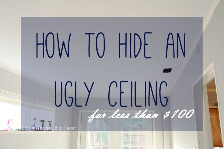 As promised, here's our tutorial on how to hide an ugly ceiling with paintable wallpaper! The Little House was built in 1940, but we're pretty sure (after more demo this weekend) that our office was once a screened in back porch that was enclosed  sometime in the 1960s. The thing …