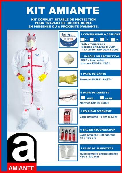 Kit de protection amiante jetable