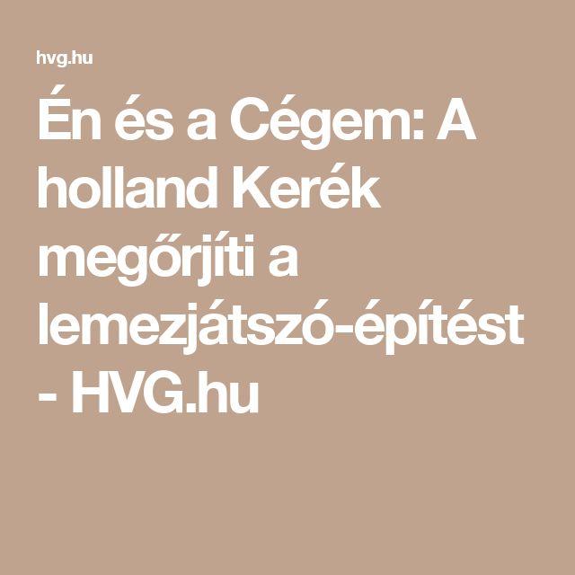 Én és a Cégem: A holland Kerék megőrjíti a lemezjátszó-építést - HVG.hu