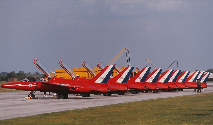 Red Arrows - Folland Gnat T1 by George of Dufton