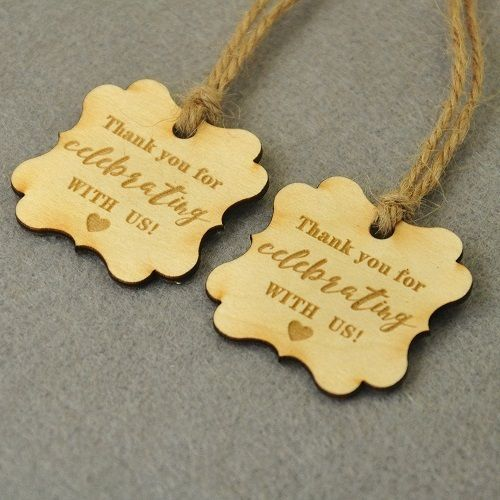 Personalized Wedding Tags 100 Pieces Wooden Rustic Favors Thank You Custom Tag #PersonalizedWedding #Wedding