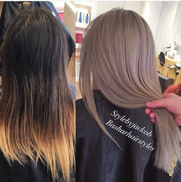 Pinterest Jaeelizabethh Haarfarben 2019 Mittellang Lady In 2020 Ash Hair Color Hair Styles Trendy Hair Color