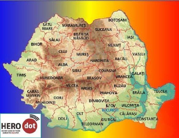 Harta Romaniei - interactiva