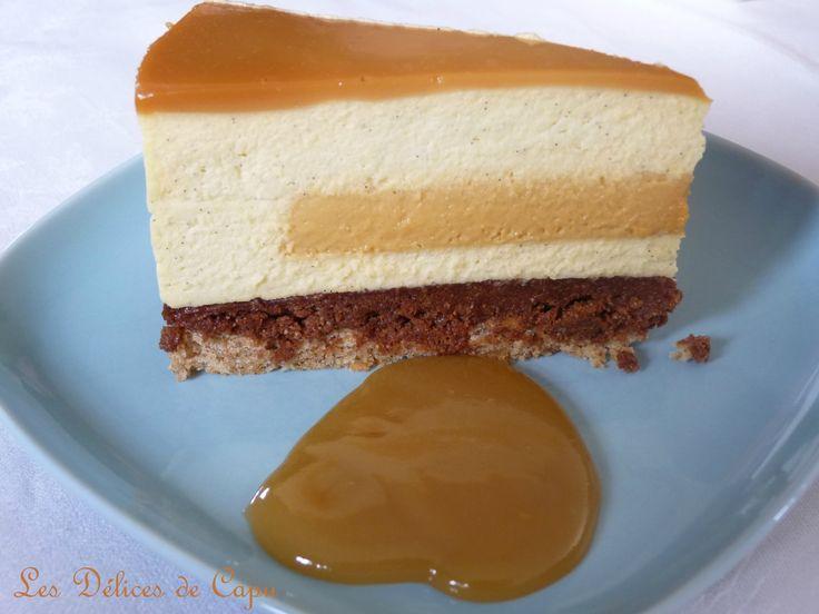 Entremets vanille caramel et praliné2