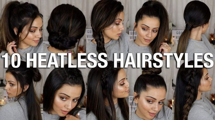 10 EASY BACK TO SCHOOL HEATLESS HAIRSTYLES| 2 - 4 MINS EACH!! - Easy Hairstyles For Long Hair - #hairstyles #heatless #school - #new