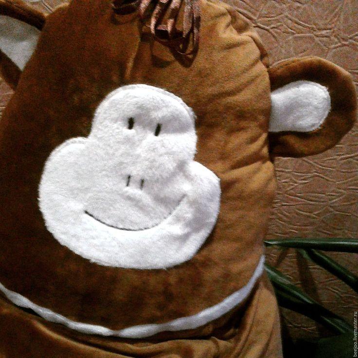 """Купить Кресло-груша """"Веселая обезьянка!"""" - коричневый, кресло, кресло-мешок, кресло-груша, обезьянка"""