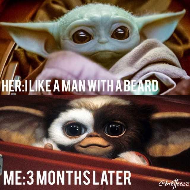 Baby Yoda Beard Imgur Funny Star Wars Memes Star Wars Memes Dory Memes