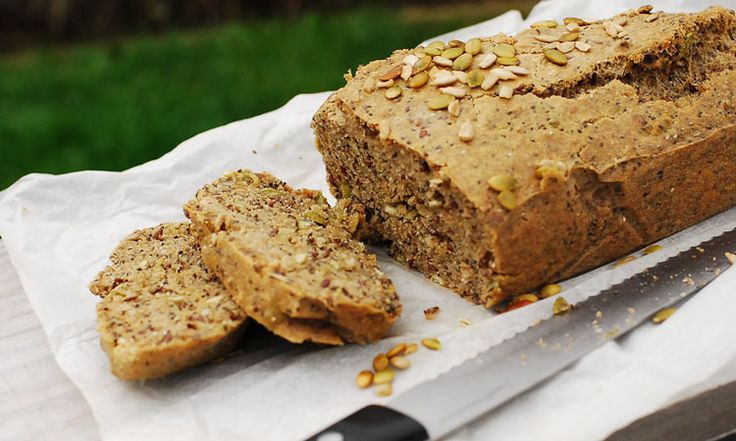 Nut and Seed Bread - Gluten Free - Only grain used is buckwheat and it makes up less than 1/3 of the total volume of ingredients.  Talk about a hearty bread.