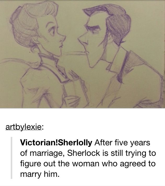 victorian sherlock and molly after 5 years of marriage