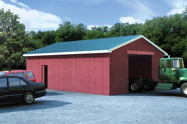50 best pole barn ideas images on pinterest pole barn for Building a detached garage on a slope