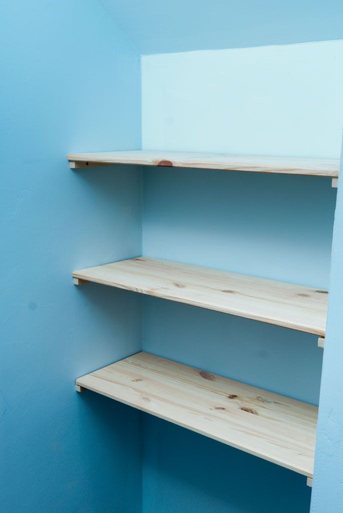 How to build wall shelves