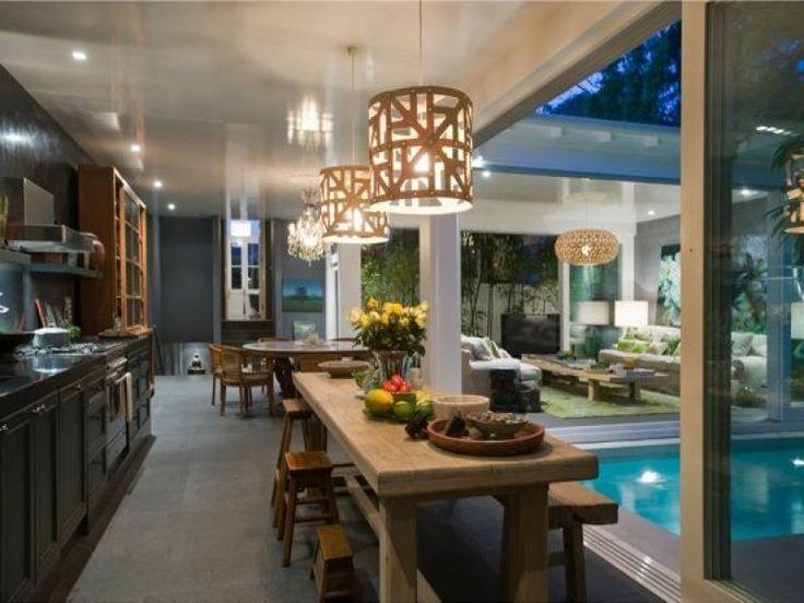Casual Dining Room Idea With Bluestone U0026 Bay Windows   Dining Room Photo  224544