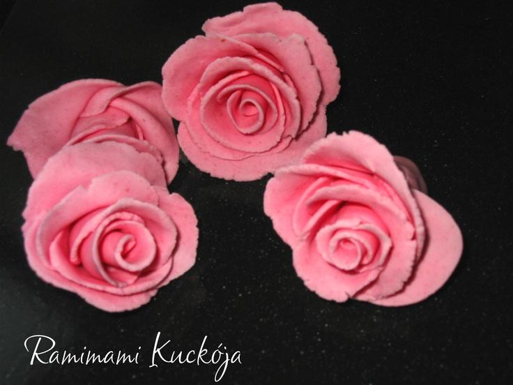 Fondant rózsa készítése ~ Ramimami kuckója