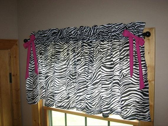 Elegant Zebra Curtain Valances By Kuntrystichn On Etsy, $22.00 Nice Design