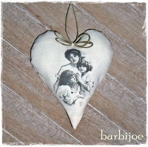 Édesanyám néked!  függeszthető vintage szív, Dekoráció, Otthon, lakberendezés, Meska