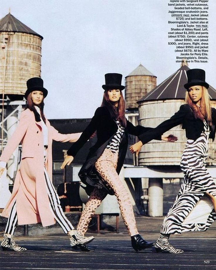 Claudia, Susan and Tyra for Vogue US by Max Vadukul (1992)