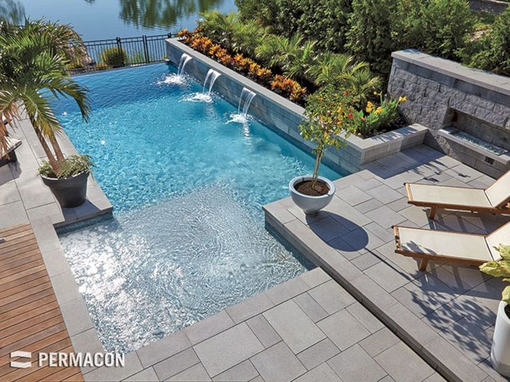 Best 25 pool designs ideas on pinterest swimming pools for Decor around swimming pool