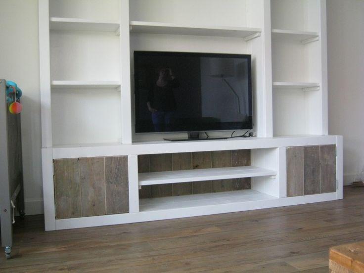 Tv meubel wand 2013 woonkamer inrichten pinterest for Wand woonkamer