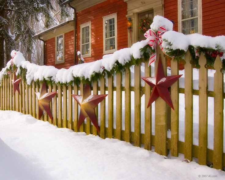Image result for christmas decorations on fence