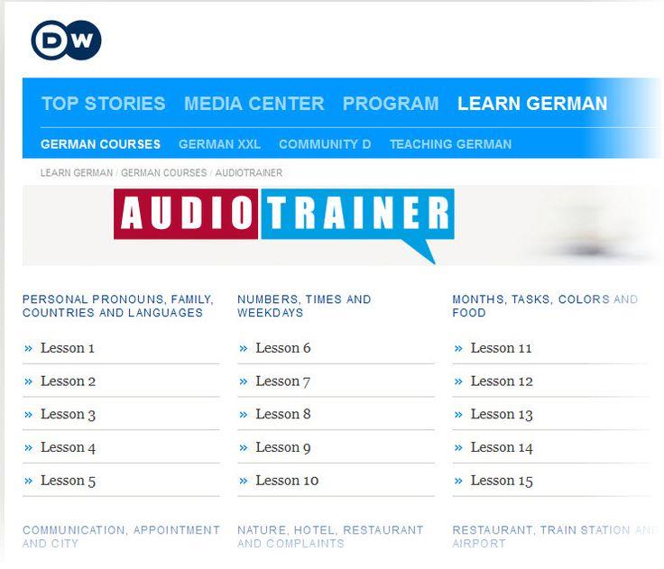 Deutsche Welle Audio Trainer free audio files plus