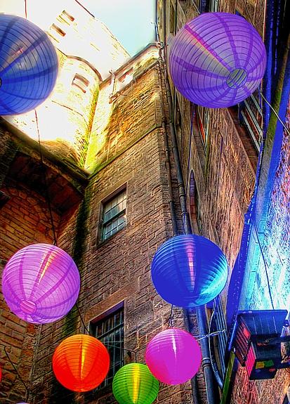 Paper Lamps at the International Festival (Edinburgh, Scotland), by neruii