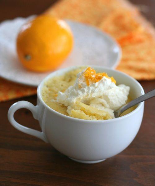Gluten Free Meyer Lemon Mug Cake:  almond flour, erythritol, 1 lemon, baking powder, salt, butter, 1 egg