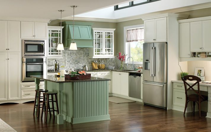 """maybe a stained range and """"island"""" and white country kitchen cabinets remodel, kitchen designs ideas"""