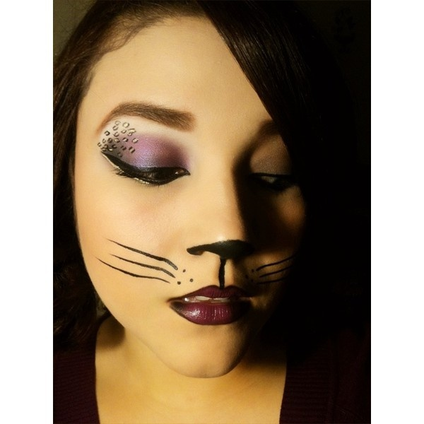 Halloween / Sexy Cat Halloween Makeup ❤ liked on Polyvore