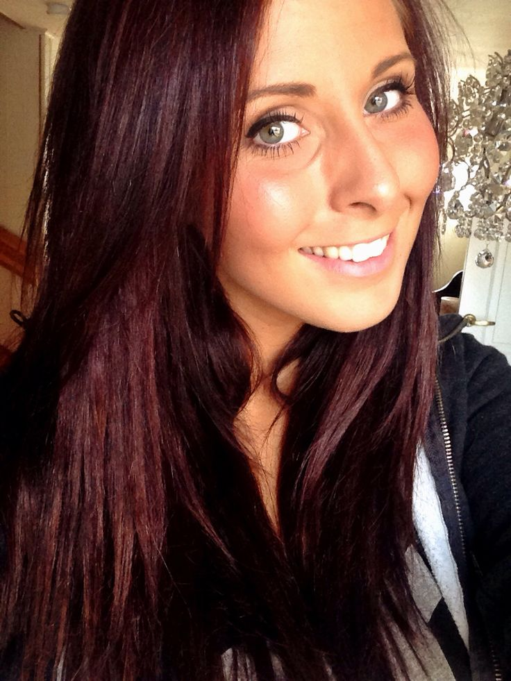 New hair for fall. Mahogany dark brown red <3