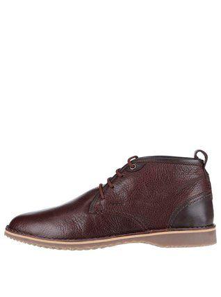 Geox - Hnědé pánské kožené kotníkové boty  Zal - 1