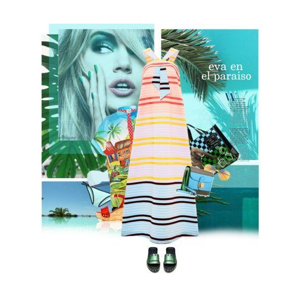 I'm an ocean...i'm a leaf by laste-co on Polyvore featuring moda, Stella Jean, Beach Sexy, River Island, Acne Studios, Stuart Weitzman, Valentino and Matthew Williamson