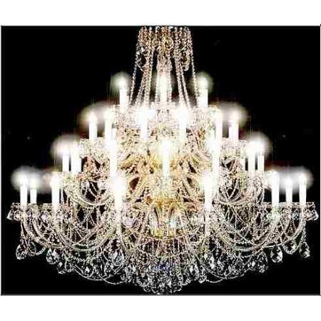 Lustre Grande Em Cristal 180x175 42 Lampadas Vários Modelos