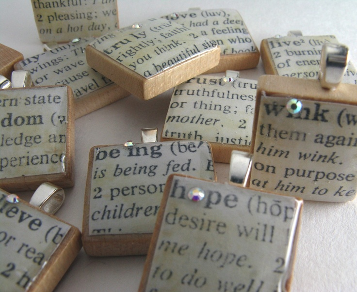 Definition Scrabble Tile Pendants
