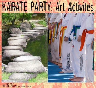 Loads of Karate Party Ideas - Decorations, Games, Foods, Crafts & More from B.Nute productions   You've mailed the invitation and your chi...