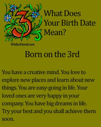 What Does Your Birth Date Mean?- Born on the 3rd