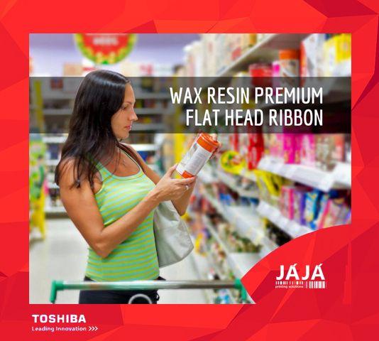 A JÁJÁ apresenta o Ribbon Cera Resina Premium Flat Head, uma qualidade de fita de impressão que oferece versatilidade e durabilidade para impressão em alta velocidade, numa ampla variedade de suportes couché e sintéticos. 😍 Ideal para que a impressão de etiquetas dure por vários anos! #etiquetas #rótulos #labels #barcode #toshiba