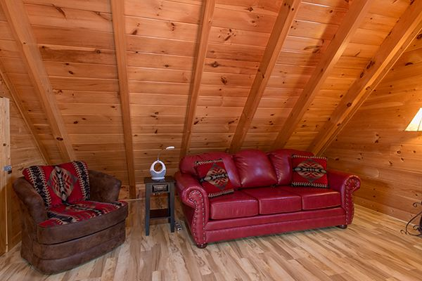Queen Sofa Sleeper added October, 2016. Memory foam mattress. All sleeper mattresses in all cabins have memory foam. No more sleeping on springs.    Call Pat Kirchhoefer, owner of cabins at 618-559-3915    #vacay #vacation #mountains #greatsmokymountains #tennessee #GSMNP #travel #nature #hiking #wildlife #scenery #family #views #familytime #getaway #forest #tree