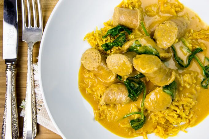"This is the first recipe I ever ""developed"". Shortly after moving in with my now husband, Michael, I asked him what he was craving for dinner and he replied ""curried sausages"". Now, I had never heard of curried sausages in my life… so I jumped on Google and browsed about 100 recipes, with this concept in...Read More »"