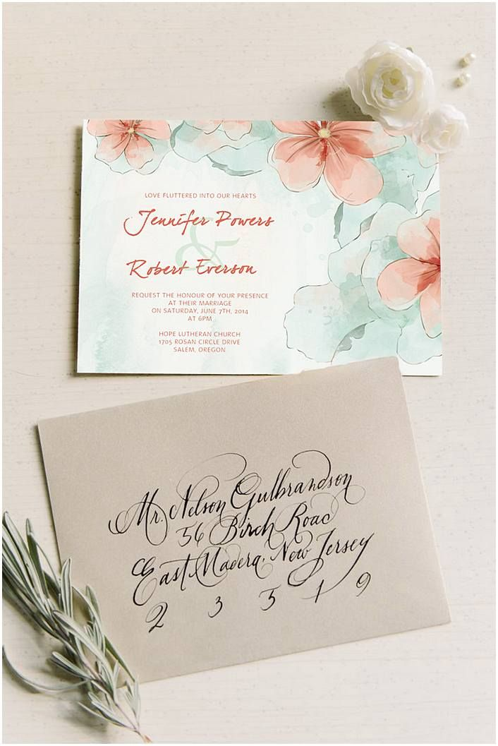 Watercolor Wedding Invitations The Invitations Can Be Designed On